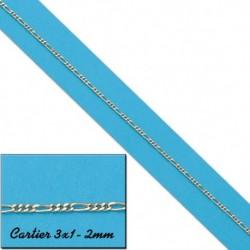CADENA HUECA CARTIER 3X1 2MM ORO 18KL