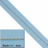CADENA ROMBO 1X1 ORO 18KL