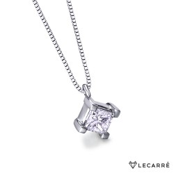 Colgante diamante princesa