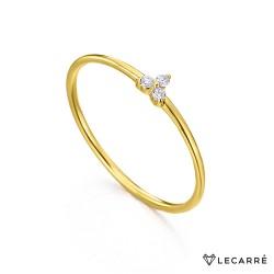 Anillo Oro Tres Diamantes