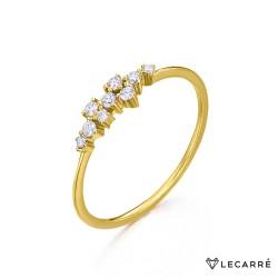 Anillo Cascada Oro y Diamantes