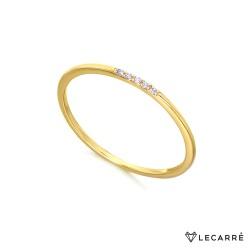 Anillo con 5 Diamantes en Oro Amarillo