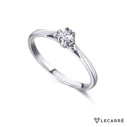Solitario Oro Blanco 6 garras Diamante