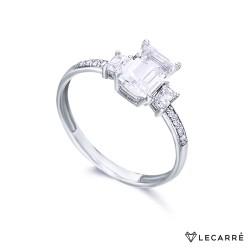 Anillo Oro Destiny Oro Blanco Diamantes & Topacios