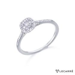 Anillo Roseta Destiny Oro Blanco Diamantes