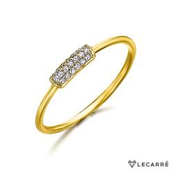 Anillo Barra Rectangular de Diamantes y oro