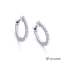 Aros Oro Blanco y Diamantes