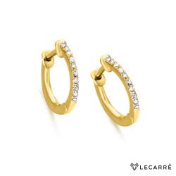 Aros Oro Diamantes
