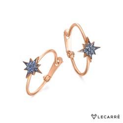 Pendientes Estrella Polar Topacios Azules