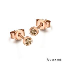Pendientes Oro Rosa y Diamantes Brown