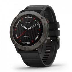 Reloj Garmin Fénix 6X Zafiro Gris Carbón DLC con Correa Negra