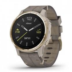 Reloj Garmin Fénix 6S Zafiro Correa Cuero Gris Piedra