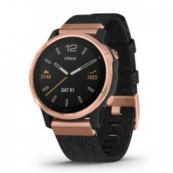 Reloj Garmin Fénix 6S Zafiro Rose Gold Negro con Correa Nylon