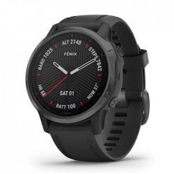 Reloj Garmin Fénix 6S Zafiro Gris Carbón DLC con Correa Negra