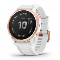Reloj Garmin Fénix 6S Pro Rose Gold Blanco con Correa Blanca