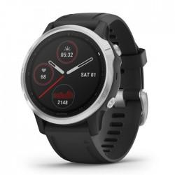 Reloj Garmin Fénix 6S Plata Negro con Correa Negra