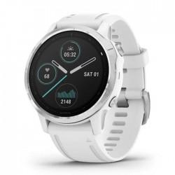 Reloj Garmin Fénix 6S Plata Blanco con Correa Blanca