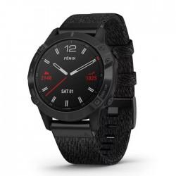 Reloj Garmin Fénix 6 Zafiro Negro DLC Correa de Nylon