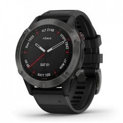 Reloj Garmin Fénix 6 Zafiro Gris Carbón con Correa Negra