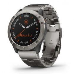 Reloj Garmin Fénix 6X Pro Solar Titanio con Correa de Titanio