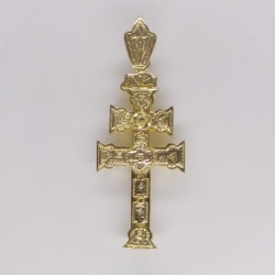 Cruz Caravaca Oro Relieve 1494K18