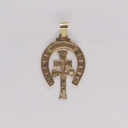 Medalla Cruz Caravaca Oro 2677K18