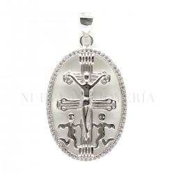Medalla Cruz Caravaca Plata 489PL