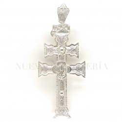 Cruz Caravaca Plata Relieve 526PL