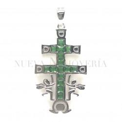 Cruz Caravaca Plata Piedras y Rodio 812PL