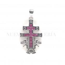 Cruz Caravaca Plata Piedras y Rodio 1244PL