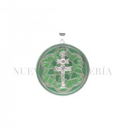 Medalla Cruz Caravaca Plata y Esmalte 88PL
