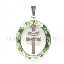 Medalla Cruz Caravaca Plata y Esmalte 978PL