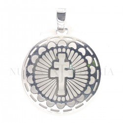 Medalla Cruz Caravaca Plata 1166PL