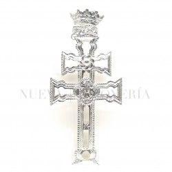 Cruz Caravaca Plata Relieve 690PL