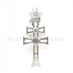 Cruz Caravaca Plata Relieve 846PL