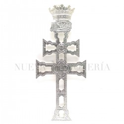 Cruz Caravaca Plata Relieve 2077PL