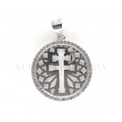 Medalla Cruz Caravaca Plata 1009PL