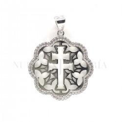 Medalla Cruz Caravaca Plata y Piedras 1269PL