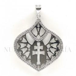 Medalla Cruz Caravaca Plata y Piedras 1004PL