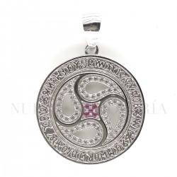 Medalla Cruz Caravaca Plata y Piedras 1445PL