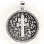 Medalla Cruz Caravaca Plata y Piedras 1003PL