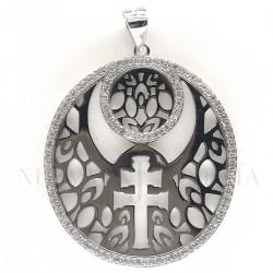 Medalla Cruz Caravaca Plata y Piedras 1000PL