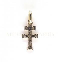 Cruz de Caravaca plana en Oro 169K18
