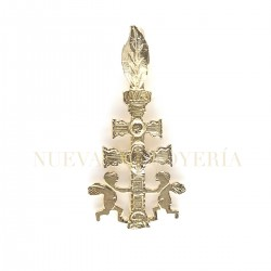 Cruz Caravaca Oro Relieve Angeles 180K18