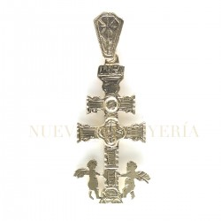 Cruz Caravaca Oro Relieve Angeles 1881K18