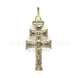 Cruz Caravaca Oro Relieve 3468K18