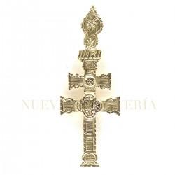 Cruz Caravaca Oro Relieve 1524K18