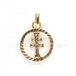 Medalla Cruz Caravaca Oro 1805K18