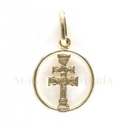 Medalla Cruz Caravaca Oro 850K18
