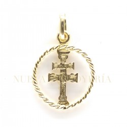 Medalla Cruz Caravaca Oro 849K18